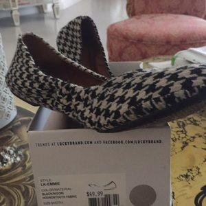 Lucky Brand houndstooth fabric ballet flat sz 8.5